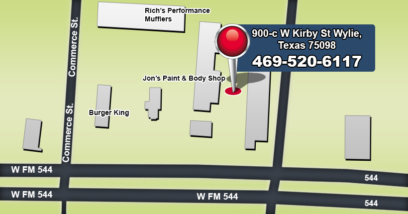 Wylie Texas Dent Repair Location Map