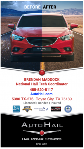 Rockwall TX Hail Dent Repair Service